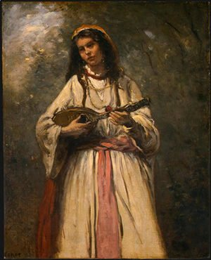 Jean-Baptiste-Camille Corot - Gypsy Girl with Mandolin