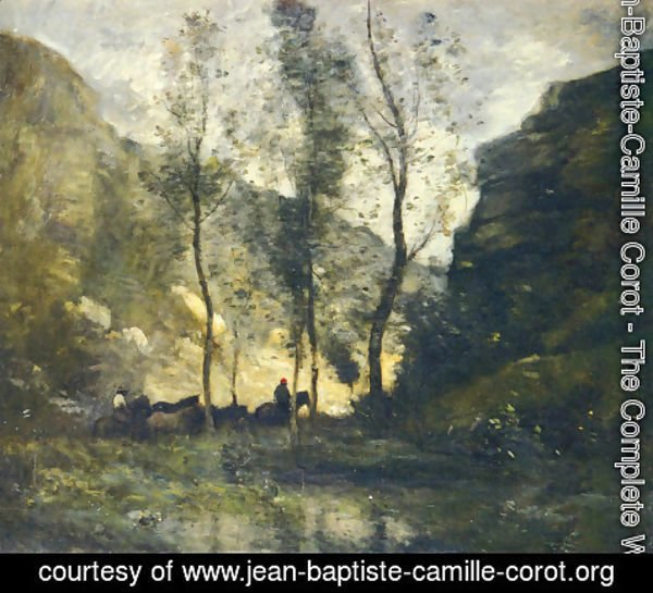 Jean-Baptiste-Camille Corot - The Smugglers