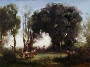 Jean-Baptiste-Camille Corot - Morning, the Dance of the Nymphs