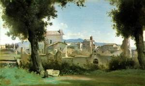Jean-Baptiste-Camille Corot - View from the Farnese gardens, Rome