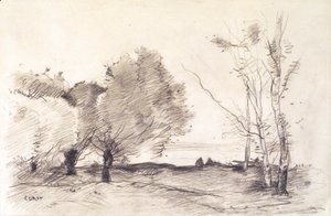 Jean-Baptiste-Camille Corot - Willows and White Poplars