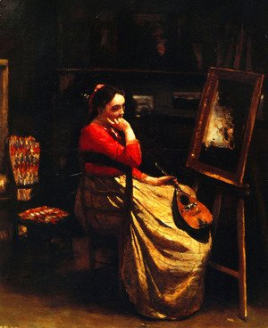Artist's Studio, Young Woman with a Mandolin